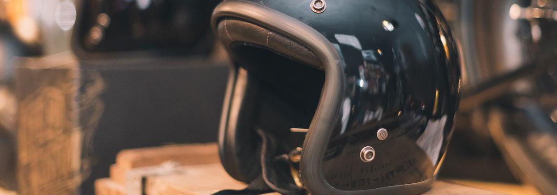 casque vintage moto